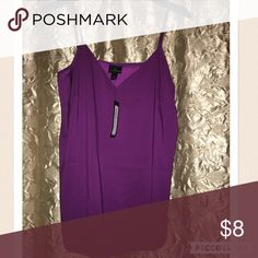 Purple Silk Worthington Tank LOVE LOVE LOVE this purple! Straps are adjustable and has never been touched. The silky fabric offers a sexy look yet the middle triangle offers classy coverage! Worthington Tops Tank Tops