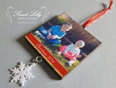 Custom Two-Sided Wooden Photo Ornament with by ilovethoseboys