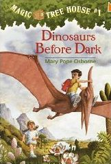 """Great activities to go with """"Dinosaurs Before Dark"""" by Mary Pope Osborne- Lots of great dinosaur activities- Dinosaur Diorama, Paper Mache Dinosaur, Dinosaur Footprints Vocabulary Game, and more!"""