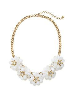 Floral Cluster Necklace from THELIMITED.com #TheLimited #Floral #Necklace #SpringStyle