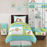 Found it at Wayfair - Hooty Turquoise and Lime Bedding Collection
