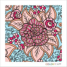 Suave coloring by @cheesecokecola ! Relax and color! http://colorfy.net/app #flowers #florals #beautiful #colorful #coloring #therapy #joy #nature #Flower #Colorfy #Nature #drawing #picture #painting #coloring #books #book #app