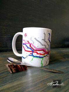London Underground Subway Map mug
