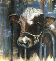 Cow on wood