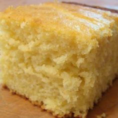 Sweet Cornbread-sub oil for apple sauce and only 1/4 c. Sugar.  Delicious!!~<3