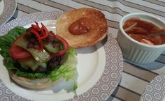 Beef burger, topped with freshly sliced jalapenos and a very secret chilli sauce ;)