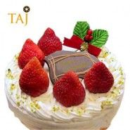 Cakes To India Strawberry Online Cake Delivery Christmas Decorations Topper