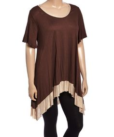 Look what I found on #zulily! Brown & Mocha Hi-Low Tunic - Plus #zulilyfinds