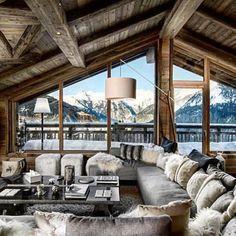 Wonderfull Chalet style of interior decorating Chalet Design, Chalet Style, House Design, Ski Chalet, Mountain Cabin Decor, Modern Mountain Home, Ski Lodge Decor, Cabin Homes, Log Homes