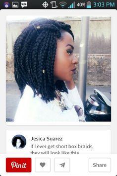 Short box braids. Definitely on my style to-do list.