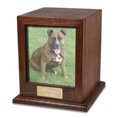 Pet cremation urns a memorial for your beloved pet business elegant photo wood dog 50 cu in cremation urn solutioingenieria Image collections
