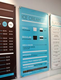 Glacé Ice Cream Branding