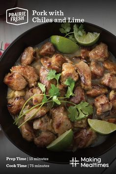 Lime Recipes, Pork Recipes, Crockpot Recipes, Cooking Recipes, Chicken Recipes, Mexican Dishes, Mexican Food Recipes, Mexican Meat, Dinner Recipes