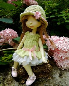 """CHIDITTA set for 10"""" BJD Meek by Connie Lowe pal to Millie Wiggs Lolly Lasher"""