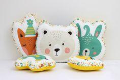 Bear Pillow Animal Pillow Kids Pillows Child by ProstoConcept