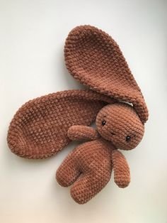projects for beginners animals Bunny long ears Crochet Animal Patterns, Stuffed Animal Patterns, Crochet Patterns Amigurumi, Crochet Animals, Crochet Dolls, Crochet Clothes, Crochet Stitches, Stuffed Animals, Mode Crochet