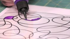 How to Create Squiggle Art Stained Glass with Mark Montano