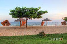 Gazebos Down at Cafe Kilang Mandiri Beach - Balikpapan