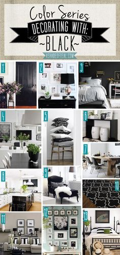 Color Series Decorating With Black