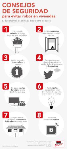 Securitas Direct presenta en esta infografía los consejos de seguridad más útiles para evitar robos en domicilios.