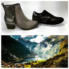 Our next stop on #aroundtheworldin8days is Oslo! For our 2 pairs of shoes we're turning to @tamaris_official a brand which was only recently made available in the U.S. On the left we have this chic grey bootie (remember grey goes with everything!) that'll look great for an evening at the #dennorskeopera. The Tamaris sneaker on the right is perfect for city walking or a stroll through #vigelandspark. Both are cushy and soft and will make you feel so comfy through your travels. Do you approve…