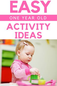 The Best Activities for 1 Year Olds to Encourage Development - The Best 1 Year Old Activity Ideas: Try these simple and fun learning activities with your toddler. They are great for learning new concepts and keeping your little one busy! Activities For One Year Olds, Fun Activities For Toddlers, Indoor Activities, Infant Activities, Learning Activities, Fun Learning, 1year Old Activities, Cognitive Activities, Sensory Activities