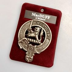 With a choice of over 200 crests, the clan crest badge is a popular item...