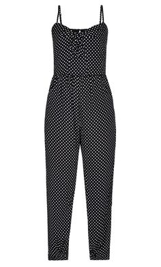 City Chic - SWEET SPOT JUMPSUIT - Women's Plus Size Fashion - City Chic Your Leading Plus Size Fashion Destination #citychic #citychiconline #newarrivals #plussize #plusfashion