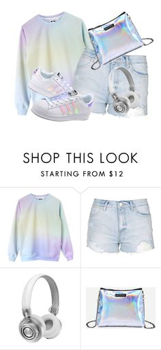 """matalic"" by lipsy-look ❤ liked on Polyvore featuring Topshop, Master & Dynamic and adidas Originals"