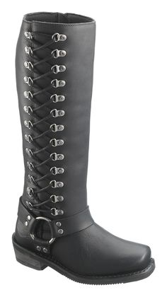 Free Shipping on All Orders Over $99! Harley-Davidson® Womens Romy Black Leather High Cut Boot