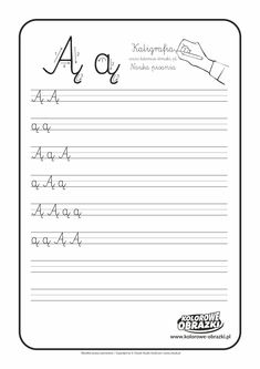 Calligraphy for kids - Letters / Handwriting - Cool Coloring Pages Learn Handwriting, Improve Your Handwriting, Handwriting Analysis, Letter Worksheets, Handwriting Worksheets, Worksheets For Kids, Letter A Coloring Pages, Cool Coloring Pages, Coloring Sheets