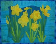 19 best daffodils images floral quilts flower quilts quilt pattern