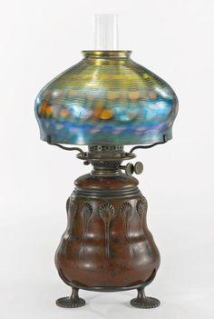 TIFFANY STUDIOS   An Early Oil Table Lamp
