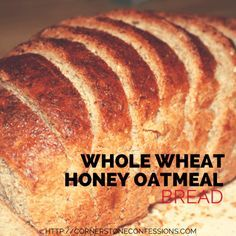 Whole Wheat Honey Oatmeal Bread After many homemade bread recipe tries, this is the only recipe my family will eat besides commercial whole wheat bread. It's yummy, moist, and easy to make. Bread And Pastries, Bread Maker Recipes, Baking Recipes, Baking Tips, Italian Bread Recipes, Kitchen Aid Recipes, Sandwich Bread Recipes, Yeast Bread Recipes, Donut Recipes