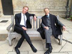 With uncle Edward . Inspector Lewis, Inspector Morse, Detective, Edward Fox, Emilia Fox, Laurence Fox, Shaun Evans, Midsomer Murders, Fantastic Mr Fox
