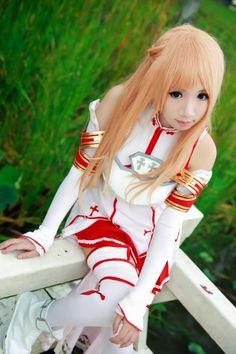 Asuna Cosplay Cute - Anime Sword Art Online