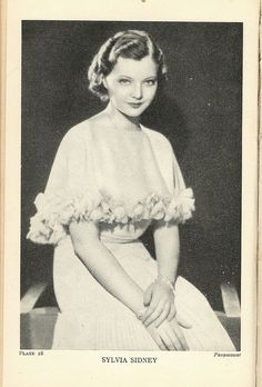 World Film Encyclopedia 1933- Sylvia Sidney | Flickr - Photo Sharing!