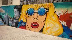 Arte urbano en escaleras de El Ejido (Málaga)