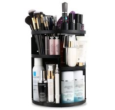 Jerrybox Makeup Organizer, 360 Degree Rotating Vanity Organizer and Cosmetic Storage Display Box, Large Capacity Make up Caddy Shelf Cosmetics Organizer Box with 7 Layers Hanging Makeup Organizer, Make Up Organizer, Vanity Organization, Beauty Organizer, Cosmetic Display, Cosmetic Items, Cosmetic Storage, Makeup Storage, Too Faced