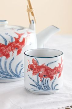 World Market injects whimsy into modern teacups.