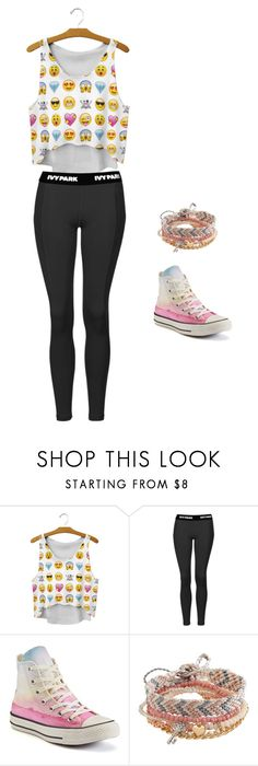 """""""Emoji style outfit"""" by metamorphagus on Polyvore featuring Topshop, Converse and Aéropostale"""