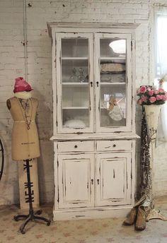 Painted Cottage Chic Shabby Farmhouse Cabinet por paintedcottages
