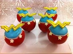 Wonder Woman cake pops!!