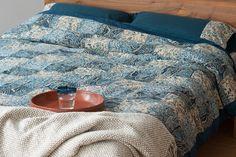 Indigo kalamkari duvet cover from http://bringingitallbackhome.co.uk