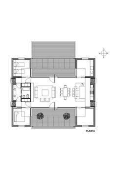 Minimal Home, Apartment Plans, Cabins And Cottages, Facade House, Minimalist Interior, Future House, Home Goods, House Plans, Floor Plans