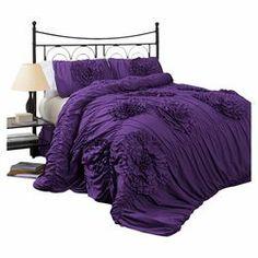 Serena Comforter Set in Purple