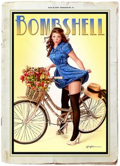 Hannah with bicycle by Bombshell Pin-up Productions, via Flickr