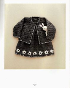 Crochet patterns: Crochet Pattern Explained for Little Princesses Fall -Winter Twin Set ╭⊰✿Teresa Restegui http://www.pinterest.com/teretegui/✿⊱╮