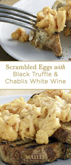 Experience a perfect breakfast or brunch with this luxurious scrambled eggs recipe. It's prepared with Maille's bestselling black truffle mustard w/ chablis white wine. This makes for one easy but decadent dish!