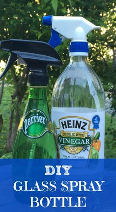 Learn how to use an old glass bottle to spray homemade cleaners with essential oils!